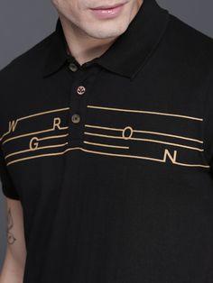 Buy Moda Rapido Men White & Black Printed Round Neck T Shirt - Tshirts for Men 5613468 Stylish Mens Outfits, Stylish Shirts, Mens Flannel Shirt, Polo Shirt, Camisa Polo, Clothing Labels, Men's Fashion, Branded T Shirts, Black Print