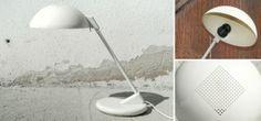 Weisse Schreibtischlampe