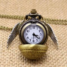 Beautifully crafted Golden snitch pocket watch! $9.99
