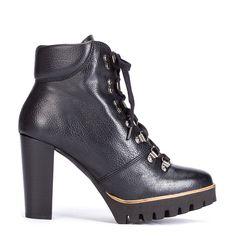 #zapatos #botín #tacón #plataforma de la nueva colección #AW de #pedromiralles en color #negro #shoponline