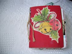 Fran's mini Christmas altered book by Carla.