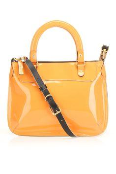 Marni Patent Leather Shoulder Bag In Orange - Beyond the Rack Patent Leather, Leather Bag, Wholesale Handbags, Leather Design, Bag Sale, Handbag Accessories, Purses And Handbags, Leather Shoulder Bag, Orange