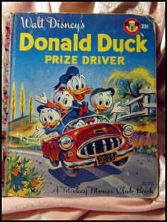 Donald Duck Prize Driver -- Walt Disney Little Golden Book from openslate on Ruby Lane