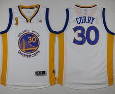 0be3364b69a Warriors  30 Stephen Curry White Trophy Banner Champions Stitched NBA Jersey  Cycling Clothing