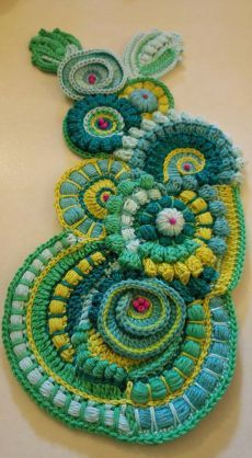 New Ideas crochet afghan free patterns style Col Crochet, Crochet Motifs, Crochet Flower Patterns, Freeform Crochet, Crochet Art, Irish Crochet, Crochet Designs, Crochet Flowers, Crochet Style