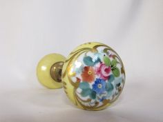 Vintage Hand painted Door Knobs Porcelain by #2ndChanceShop on Etsy
