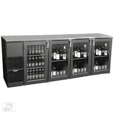 "Glastender ND92BW-L1-GSH(LLLR) 92"" Glass Door Two Zone Back Bar Cooler by Glastender. $4664.99. Equip the bar in your commercial foodservice operation with a narrow door two zone cooler that can store both beer and wine bottles in the same location for efficient service. The 92"" Glass Door Two Zone Back Bar Cooler (ND92BW-L1-GSH(LLLR)) from Glastender is designed to store both beer and white wine behind glass doors so guests can preview the selection. The beer compart..."
