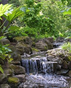 After: Intimate stream (© Hughes Water Gardens) oh to have this sound in my yard and yes the green too