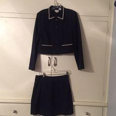 Ann Taylor loft vintage nautical suit Skirt is above the knee sz 10, jacket is sz L LOFT Other