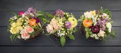 Kari Young Floral Designs Nest Arrangements Roses, Lilac, Stock and Runuculus