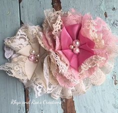 A personal favorite from my Etsy shop https://www.etsy.com/listing/287371957/dusty-rose-mauve-pink-shabby-chic #babyheadbands #girlsheadbands #etsybaby #hairbows