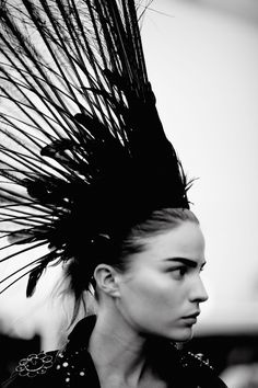 Feather Headdress - couture millinery; runway fashion details // Louis Vuitton SS14