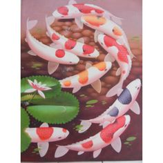 Lukisan Objek Ikan Koi Keberuntungan  Tinggi: 80cm  Lebar: 60cm  Bahan: Canvas  Sangat cocok untuk dijadikan sebagai pajangan di rumah anda, maupun di tempat kerja anda.  Saat pengiriman, Lukisan bisa digulung, dan dimasukkan ke pipa, jadi akan aman sewaktu pengiriman.