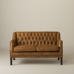 Equestrian Loveseat - Columbian Brown - Schoolhouse Electric out of Portland Brown Leather Loveseat, Brown Sofas, Leather Chairs, Leather Recliner, Brown Couch, Leather Sofas, Grey And Brown Living Room, Classic Sofa, Upholstered Sofa
