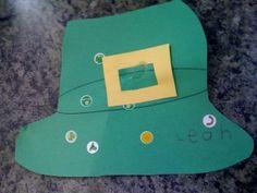 Preschool Crafts for Kids*: Easy St. Patrick's Day leprechaun Hat Preschool Craft