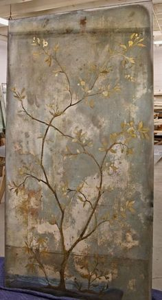 Verre Eglomise Heavily Tarnished Antiqued Mirror Finish With Chinoiserie Design - Mirror Ideas Mirror Painting, Mirror Art, Diy Mirror, Stencil Painting, Acrylic Mirror, Chinoiserie, Distressed Mirror, Antiqued Mirror, Antique Mirror Glass