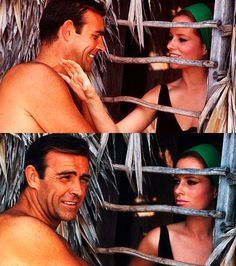 """"""" Sean Connery with co-stars Claudine Auger and Luciana Paluzzi on the set of Thunderball photographed by Philippe A. Sean Connery James Bond, James Bond Actors, James Bond Movies, Sean Connory, Best Bond Girls, Luciana Paluzzi, Claudine Auger, Bond Series, Cinema"""