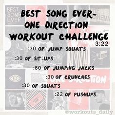 Best Song Ever - One Direction  Workout challenge! :)