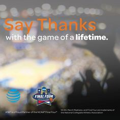 Houston friends! #PayItFourward and tell AT&T about your hero to win 2 #FinalFour tickets. #ad