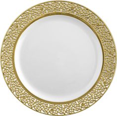 Love the gold trim around the edge of this plate. Need to test the plates to determine their weight, however.