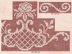 Sentimental Baby: Vintage 1920s Filet Crochet and Cross Stitch Patterns