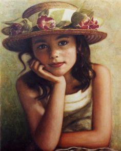 Odysseas Oikonomou (b. 1967, Albanian-Born Greek Portrait painter)