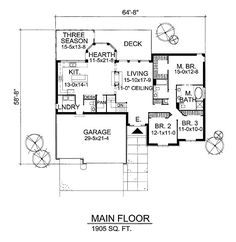 First Floor Plan of European   Traditional   House Plan 88316