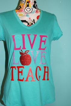 Teacher Shirt by closecrafts on Etsy, $17.00