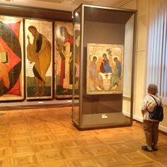 Tretyakov Gallery Moscow,Andrei Rublev Holy Trinity.