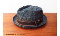 SOLDES // #Stetson #chapeau femme Garrison raffia bleu #hat #soldes #onsale
