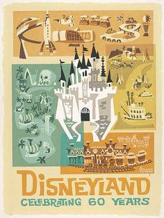 60 years Disneyland - Mike Peraza Disney Facts, Disney Love, Disney Magic, Disney Pixar, Walt Disney, Punk Disney, Disney Characters, Disneyland 60th, Vintage Disneyland