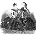 The Hoop skirt first made its appearance in Spanish Court fashion in the 16th century. It was known by several different names in various countries: the krinoline, biedermaier (Germany), caged crinoline, or panier (France), and the trend lasted for nearly three centuries. The French variety, which was called the panier.