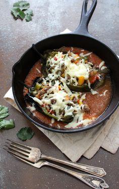 Poblanos Stuffed with Picadillo | Hispanic Kitchen