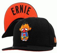 Sesame Street Snapback Hats Caps Black 4d1655b1c336