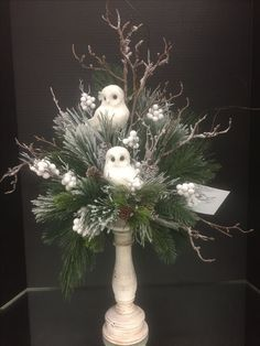 Winter woodland Collection, 2016 floral design, Tara Powers Michaels of Midlothian, Va. Christmas Flower Arrangements, Christmas Flowers, Christmas Centerpieces, Xmas Decorations, Christmas Wreaths, Winter Floral Arrangements, Christmas Floral Designs, Winter Wedding Decorations, Christmas Ornaments