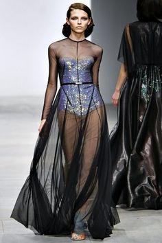 Mario Schwab - London Fashion Week 2012  Naked Dress style by Marlene Dietrich