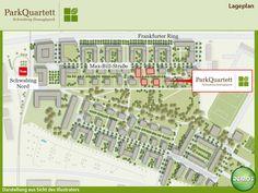 Lageplan - ParkQuartett  #ParkQuartett #Illustration #Architektur #Neubau #Neubauprojekt #Eigentumswohnungen #Lageplan #Wohnen #Schwabing #München #Domagkpark