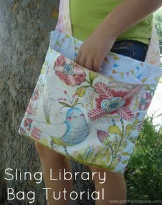 Today I'm over on Skip to my Lou and sharing a quick tutorial on making a sling library bag. It's great for hands free shopping on the shelves, loading with good summer reading material, or just for outdoor playtime. The bag is easy enough for a kid to sew….if they are just starting out and …