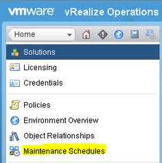 Virtual Maestro: vRealize Operations Manager 6.X Maintenance Schedules