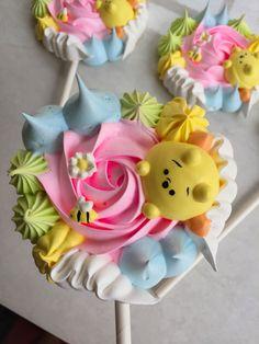 Meringue Pavlova, Meringue Desserts, Ice Cream Desserts, No Cook Desserts, Cake Decorating Tips, Cookie Decorating, Macaroons, Cake Cookies, Sugar Cookies