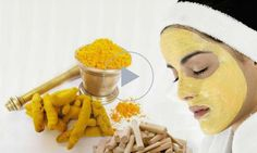 Turmeric Face Mask Recipe for Glowing Skin, Acne, Rosacea, Eczema and Dark Circles Turmeric For Skin, Turmeric Face Mask, Turmeric Facial, Turmeric Root, Facial Masks, Facial Hair, Spa Facial, Facial Cupping, Diy Beauty Mask