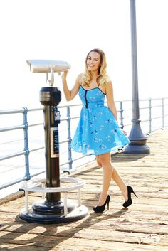 LC Lauren Conrad for Kohl's Beach Fit & Flare Dress and Platform High Heels