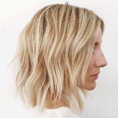 Medium Layered Blonde Haircut