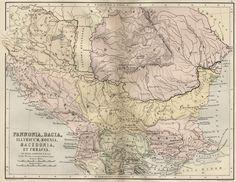 mapa_tracia Vintage Wall Art, Vintage Walls, Historical Maps, Memento Mori, Macedonia, Albania, Vintage World Maps, Wanderlust, Costume