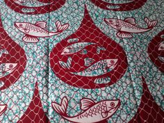 African Fabric Super Wax Veritable Fabrics Sold By Yard (pagne Africain). £5.99, via Etsy.