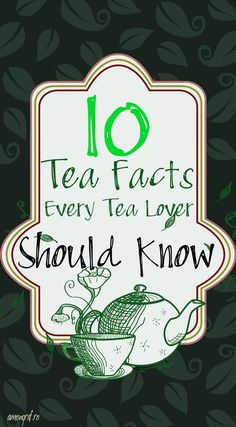 10 Tea Facts Every Tea Lover Should Know ! #tea #facts #tealover
