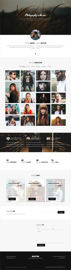 Shutter is clean and modern design responsive #WordPress theme for stunning #photography and #portfolio showcase website download now..