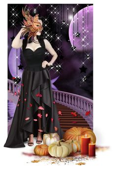 """""""Fall Masquerade Ball..."""" by maryv-1 ❤ liked on Polyvore featuring art"""