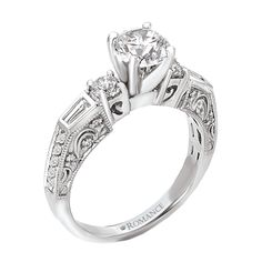 Romance Collection engagement rings.  Available here at Armentor Jewelers.  www.armentorjewelers.com
