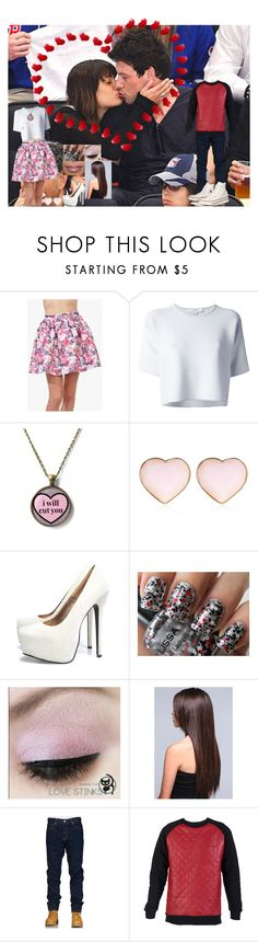 """""""Glee:Valentin's Day:Rachel and Finn"""" by glee2shake ❤ liked on Polyvore featuring Michele, Cotton Candy, Alexander Wang, River Island, AX Paris, Levi's and Converse"""